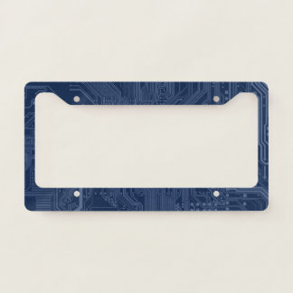 Blue Geek Motherboard Circuit Pattern License Plate Frame
