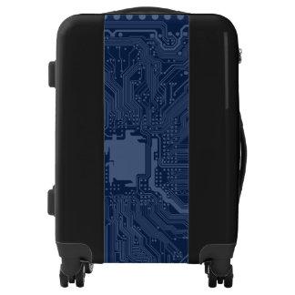 Blue Geek Motherboard Circuit Pattern Luggage