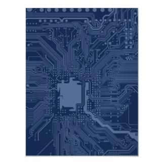 Blue Geek Motherboard Circuit Pattern Magnetic Card