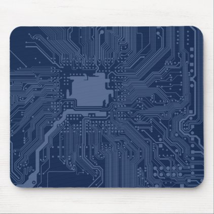 Blue Geek Motherboard Circuit Pattern Mouse Pad