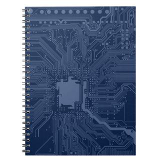 Blue Geek Motherboard Circuit Pattern Notebook