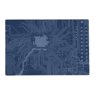 Blue Geek Motherboard Circuit Pattern Placemat