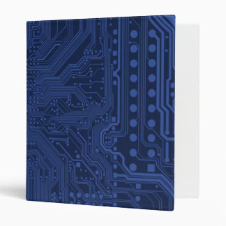 Blue Geek Motherboard Pattern 3 Ring Binder