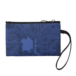 Blue Geek Motherboard Pattern Change Purse