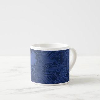 Blue Geek Motherboard Pattern Espresso Cups