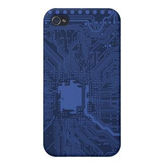 Blue Geek Motherboard Pattern iPhone 4/4S Case
