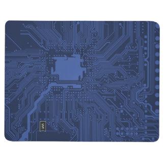 Blue Geek Motherboard Pattern Journal