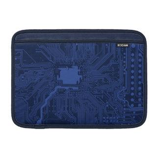 Blue Geek Motherboard Pattern MacBook Air Sleeves