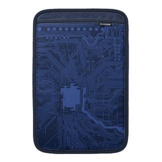 Blue Geek Motherboard Pattern MacBook Sleeves