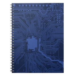 Blue Geek Motherboard Pattern Notebook