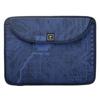 Blue Geek Motherboard Pattern Sleeve For MacBooks