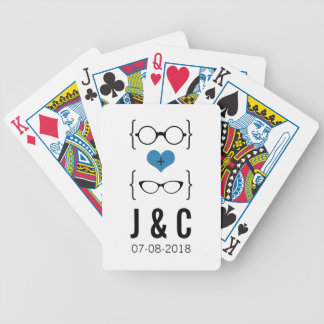 Blue Geeky Glasses Playing Cards