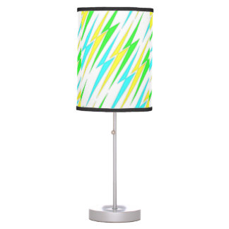 Blue, geen and yellow lightning bolts desk lamp