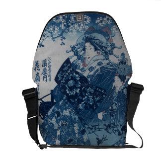 Blue Geisha Messenger Bag