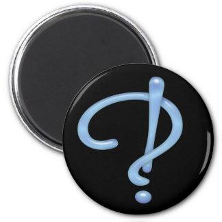 Blue Gel Interrobang Refrigerator Magnets