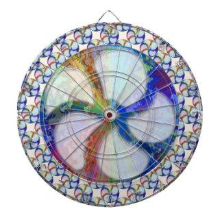 BLUE Gem Floral Pattern Dart Boards