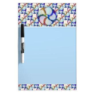 BLUE Gem Floral Pattern Dry Erase Whiteboard