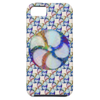 BLUE Gem Floral Pattern iPhone 5 Covers