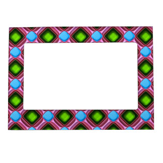 Blue Gem Pattern Magnetic Picture Frame
