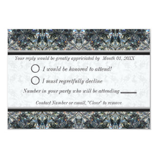 Blue Gem RSVP Card