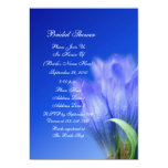 "Blue Gentian Flower Bridal Shower Invitation 5"" X 7"" Invitation Card"