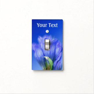 Blue Gentian Flower Nature Light Switch Cover