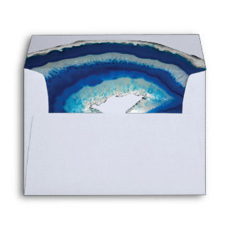 Blue Geode Envelope