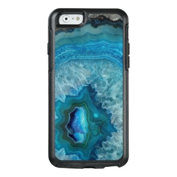 Blue Geode Rock Mineral Agate Crystal Image Otterbox Iphone 6/6s Case by cutencomfy at Zazzle