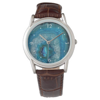 Blue Geode Rock Mineral Agate Crystal Image Watch