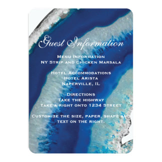 Blue Geode Wedding Insert Card