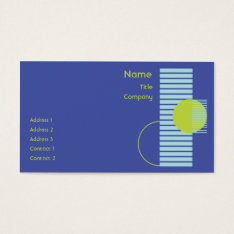 Blue Geometric - Business Business Card at Zazzle