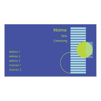 Blue Geometric - Business Business Card