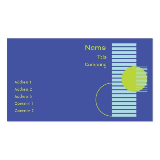 Blue Geometric - Business Double-Sided Standard Business Cards (Pack Of 100)