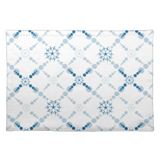Blue Geometric Crop Circles Cloth Placemat