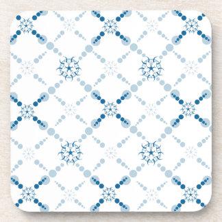 Blue Geometric Crop Circles Drink Coaster