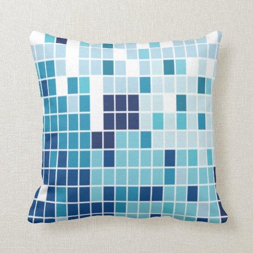 Blue Geometric decor Throw pillow Zazzle