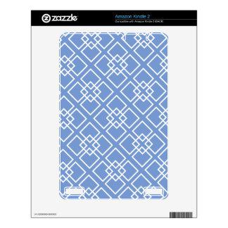 Blue Geometric Diamond Pattern Skins For The Kindle