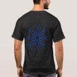 Blue Geometric knotwork back design 4 T-Shirt