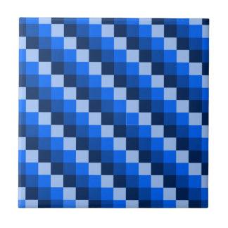 Blue Geometric Mosaic Pattern Ceramic Tile