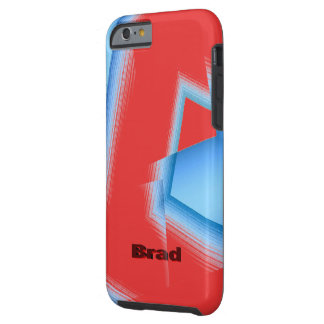 Blue Geometric over Brown iPhone 6 case for Brad