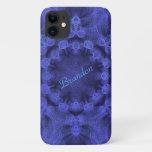 Blue geometric pattern - iPhone 11 case