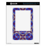 Blue geometric pattern decals for NOOK