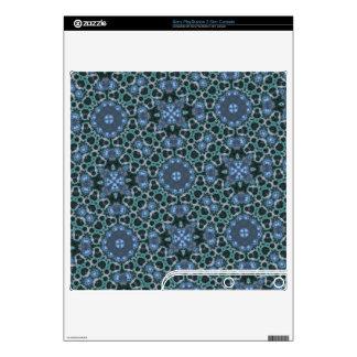 Blue Geometric pattern PS3 Slim Console Skins