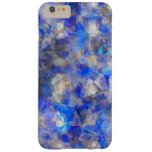 Blue Geometric Pattern Simulated Glass Barely There iPhone 6 Plus Case