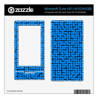 Blue Geometric Pattern Decal For Zune HD