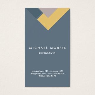 Blue geometric professional elegant modern smart business card