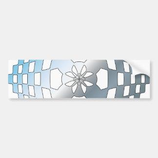 Blue Geometric Shape Bumper Sticker