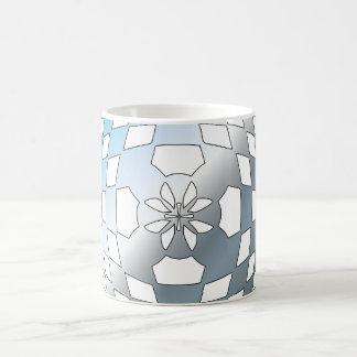 Blue Geometric Shape Coffee Mugs