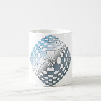 Blue Geometric Shape Coffee Mug