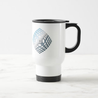 Blue Geometric Shape Travel Mug